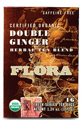 Double Ginger Tea Blend - Organic, 16 tea bags (Flora)