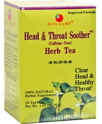 Head & Throat Soother Herb Tea, 20 tea bags (Health King)
