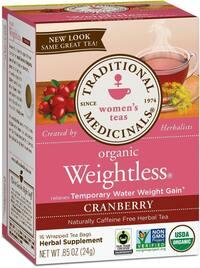 Weightless® Cranberry Tea - Organic, 16 tea bags (Traditional Medicinals)