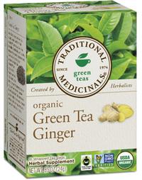 Green Tea Ginger - Organic 16 tea bags (Traditional Medicinals)