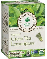 Green Tea Lemongrass - Organic 16 tea bags (Traditional Medicinals)