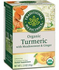 Turmeric with Meadowsweet & Ginger - Organic, 16 tea bags (Traditional Medicinals)