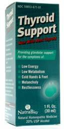 Thyroid Support, 1fl oz / 30 ml  (Natra Bio)