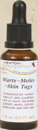 Warts, Mole, Skin Tags,  1 fl oz/30 ml (Newton Homeopathics)