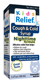 Kids Relief® Cough & Cold  Syrup - Nighttime 3.4 fl oz (Homeolab USA)