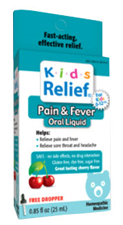 Kids Relief® Pain & Fever Oral Liquid 0.85 fl oz (Homeolab USA)