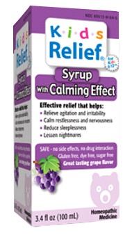 Kids Relief® Calming Effect Syrup 3.4 fl oz (Homeolab USA)