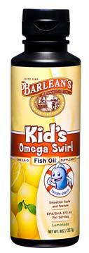 Omega Swirl (Omega-3 Fish Oil) - Lemonade, 8 oz / 227g (Barleans)