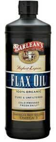 Flax Oil - Organic, High Lignan, 16 fl oz  (Barleans)