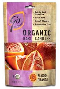 GoNaturally Organic Hard Candies - Blood Orange, 3.5 oz / 100g