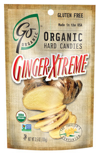 GoNaturally Organic Hard Candies - Ginger Extreme, 3.5 oz / 100g