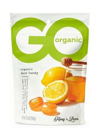 Go Organic Hard Candy - Honey Lemon, 3.5 oz / 100g