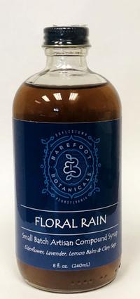 Floral Rain Simple Syrup, 8 fl oz / 240 mL (Barefoot Botanicals)