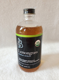Lemongrass Simple Syrup, 8 fl oz / 240 mL (Barefoot Botanicals)