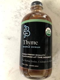 Thyme Simple Syrup, 8 fl oz / 240 mL (Barefoot Botanicals)