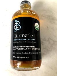 Turmeric Simple Syrup, 8 fl oz / 240 mL (Barefoot Botanicals)