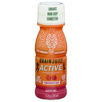 Brain Juice Active Pomegranate Acai Liquid Shot, 2.5oz/74mL (Brain Juice)