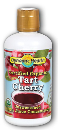 Tart Cherry Juice Concentrate - Certified Organic, 16 fl oz (Dynamic Health)