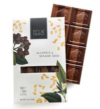 Allspice & Sesame Seed Chocolate, 2.2 oz / 60g (Eclat Chocolate)