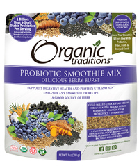 Probiotic Smoothie Mix - Berry Burst, 7 oz (Organic Traditions)