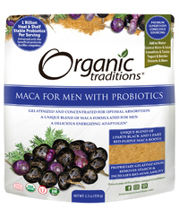 Maca for Men with Probiotics, Organic 5.3 oz (Organic Traditions)
