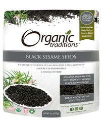 Black Sesame Seeds, Organic 8 oz (Organic Traditions)