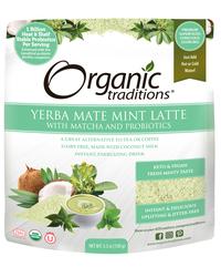 Yerba Mate Mint Latte, Organic 5.3 oz (Organic Traditions)