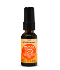 Propolis and Manuka Honey Throat Spray - Orange Spice, 1 fl oz (Wedderspoon)