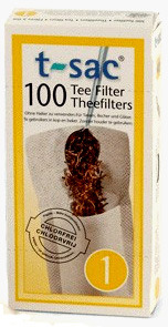 T-Sac Tea Filters - Size 1, 100 tea bags