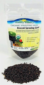 Organic Sprouting Seed - Broccoli, 4 oz (Handy Pantry)