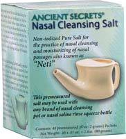 Ancient Secrets® Neti Nasal Cleansing Salt Packets, 40 premeasured packets/.07 oz each