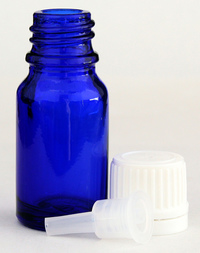 10 ml Empty Glass Cobalt Blue Bottle with Lid and Orifice Reducer