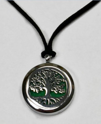 Tree Aromatherapy Diffuser Locket, Chrome