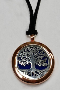 Tree Aromatherapy Diffuser Locket, Rose Gold