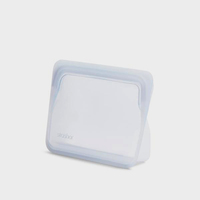 Stasher Stand-Up Reusable Mini Bag - Clear, 7.5 x 5.75 x 2.5 inches