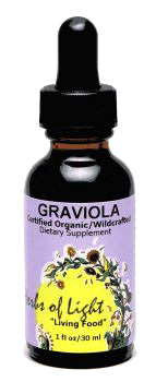 Graviola Liquid Extract, 1 fl oz / 30ml (Herbs of Light)