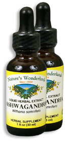 Ashwagandha Extract, 1 fl oz / 30 ml each (Nature's Wonderland)