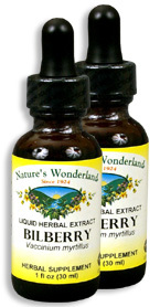 Bilberry Extract, 1 fl oz / 30 ml each (Nature's Wonderland)