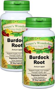 Burdock Root Capsules - 625 mg, 60 Veg Capsules each (Arctium lappa)