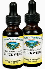 Chickweed Extract, 1 fl oz / 30 ml each (Nature's Wonderland)