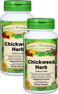 Chickweed Herb Capsules - 475 mg, 60 Veg Capsules each (Stellaria media)