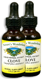 Clove Liquid Extract - Syzgium aromaticum, 1 fl oz / 30ml each (Nature's Wonderland)