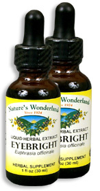 Eyebright Extract, 1 fl oz  / 30 ml each (Nature's Wonderland)