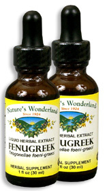 Fenugreek Extract, 1 fl oz / 30 ml each (Nature's Wonderland)