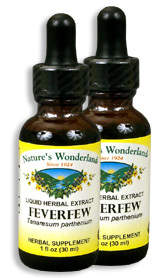 Feverfew Extract, 1 fl oz  / 30 ml each (Nature's Wonderland)
