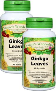Ginkgo Capsules - 475 mg, 60 Vcaps™ each (Ginkgo biloba)
