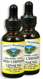 Chinese Ginseng Extract, Red, 1 fl oz / 30 ml each (Nature's Wonderland)