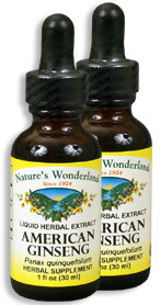 American Ginseng Root Extract, 1 fl oz / 30 ml each (Nature's Wonderland)