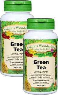 Green Tea Capsules - 650 mg, 60 Vcaps™ each (Camellia sinensis)