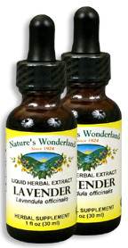 Lavender Flowers Extract, 1 fl oz / 30 ml each (Nature's Wonderland)